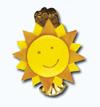 Кламерка керамическая (Kolorowe slonce kc 7107) цв.солнце