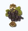 Кламерка керамическая (Porzeczka czarna kc 7129) виноград