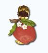 Кламерка керамическая (Jablko z kwiatkiem kc 7135) яблоко