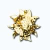 Кламерки метал. (Slonecznik I KM7201)солнце золото