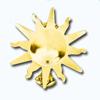 Кламерки метал. (Slonce I KM7207) солнце золото