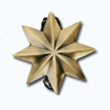 Кламерки метал. (Gwiazda KM7228) звезда золото ант
