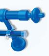 Карниз пластик 2,4м синий (Польша)