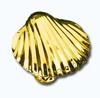 Кламерки метал. (Muszla KM7210) ракушка золото