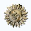 Кламерки метал.(SlonceIII KM7224)cолнце золото ант
