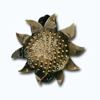 Кламерки метал.(SlonecznikIKM7221)солнцезолото ант