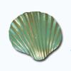 Кламерки метал.(Muszla KM7247)ракушка зелен.золото