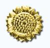 Кламерки метал.(Slonecznik II KM7209)солнце золото
