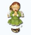 Кламерка керамическая (Aniot zielony kc 7112) ангел