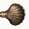 Наконечник (muszla) ракушка D16мм золото антик