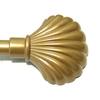Наконечник (muszla) ракушка D16мм золото мат